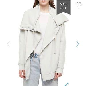 All saints Brooke Knit cream jacket size small